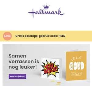 postzegel gratis Hallmark wegens succes verlengd :-)