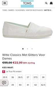 Witte Classics Met Glitters Voor Dames @Toms