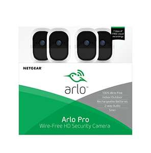 Arlo Pro slim beveiligingssysteem met 4 camera's (VMS4330) €499 @Amazon.es