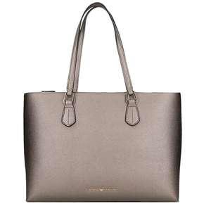 Emporio Armani Faux Leather Shopper steel was 218 euro
