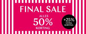 Alle sale -50% + 25% extra @ Steps
