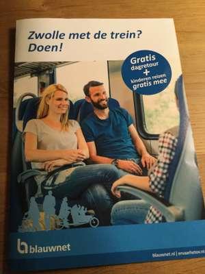 Gratis dagretour Blauwnet traject Zwolle-Enschede