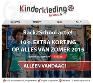 10% EXTRA korting op kinder merkkleding (met code / nu tot -70%) @Kinderkledingtekoop