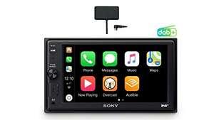 Sony AX-1005 2-din autoradio met CarPlay en DAB+ antenne
