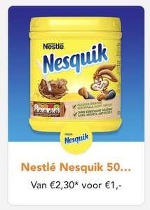 Nestlé Nesquik 500gr van €2.30 voor €1 @ Scoupy