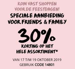 30% Friends & Family korting