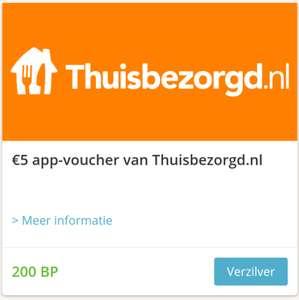 5 euro korting bij thuisbezorgd tegen inlevering van 200 bonus punten