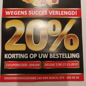 20% korting op je bestelling @Sushipoint Den Bosch