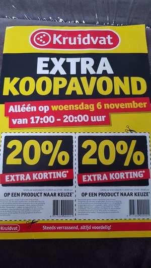 Kruidvat Koopavond - 20 procent extra korting op 2 artikelen