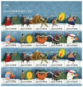 20 PostNL Decemberzegels incl €4,- korting Trekpleister of €5,- fotoservice tegoed Kruidvat