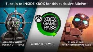 Kijk X019/Inside Xbox via Mixer voor gratis Gears POP! en Sea of Thieves Content