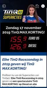 Goedkoop tanken bij Tinq tot 18 uur!
