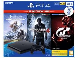 SONY Playstation 4 500GB + Horizon Zero Dawn, Uncharted 4 en Gran Turismo