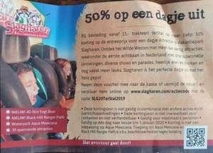50% korting op dagje uit (max 6 pers.) @ Slagharen