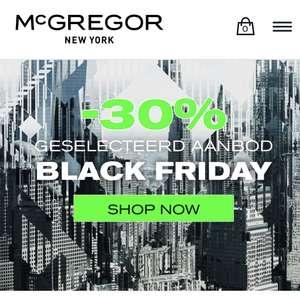 Cyber Monday: 30 tot 50% korting bij @McGregor