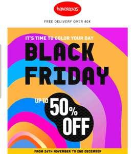 Black Friday: Tot 50% korting op Havaianas slippers.