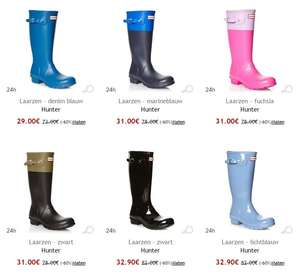 Hunter laarzen vanaf €19 @ Outlet Avenue + €10 extra korting vanaf €50