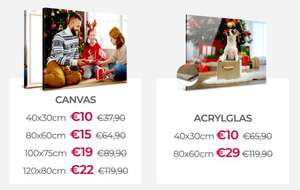 Actie: mok €3,90 / plexiglas va €10 / canvas 120x80cm €22 @ bestecanvas