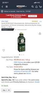 Nestle After Eight Adventskalender voor €9,99 bij Amazon.de
