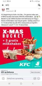 X-mass bucket + 2 gratis milkshakes