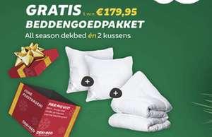 Gratis dekbed & kussens bij besteding van €39,95 of meer