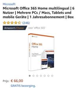 Office365 Home - 6 gebruikers + 1Tb OneDrive opslag - 1 jaar abonnement