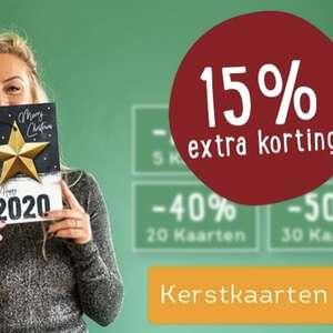 Extra 15% korting op kerstkaarten
