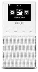 Medion MD87248 internet radio met bluetooth voor in het stopcontact