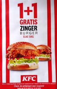Zingerburger 1+1 gratis en 9 kortingscoupons @ Kfc