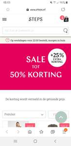 Steps sale tot 50% + 25% extra korting