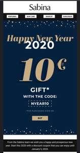 10 euro korting bij Sabina store