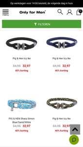 Pig & Hen armbanden sale 40% korting