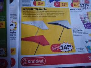 Senz stormparaplu met mooie korting bij Kruidvat