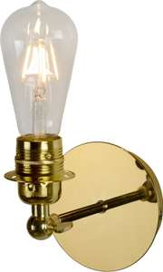 Lucide RETRO - Wandlamp - LED Dimb. - E27 - 1x5W 2700K - Messing bij bol.com