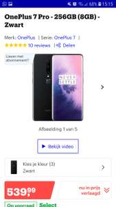 OnePlus 7 Pro - 256GB (8GB) - Zwart