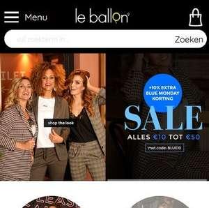 SALE: 300+ artikelen 60-70% korting + 10% extra bij Le Ballon kleding en schoenen