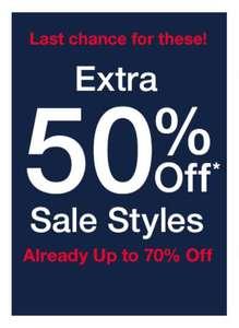 Actie: 50% EXTRA korting op sale (tot -70%) @ GAP