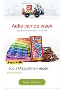 Tony Chocolade 2 voor € 4,00 bij Picnic