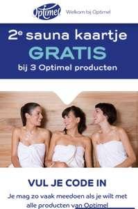 Sauna 2e kaartje gratis bij optimel producten