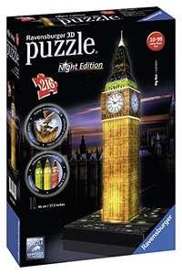 Ravensburger Night Edition Big Ben 3D Puzzel @ Amazon.de