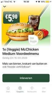 (Veggie) McChicken menu & andere McDonald's korting coupons (Week 10)
