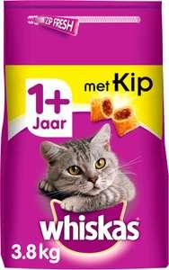 Whiskas 1+ Adult Droge Brokjes - Kip - Kattenvoer - 3.8 kg @Bol select