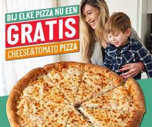 Gratis cheese&tomato pizza bij elke pizza @ Papa John's