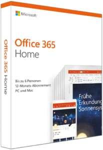 Microsoft Office 365 Home 1 jaar 6 devices @Amazon.de