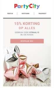 15% korting bij partycity.nl