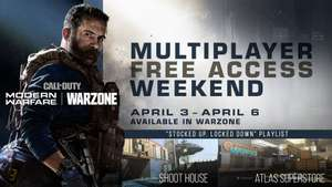 Gratis Call of Duty Modern Warfare Multiplayer (PS4, Xbox One, PC) weekend [3-6 april]