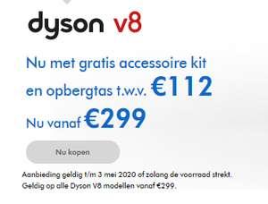 Dyson V8 Parquet of Animal+ met Gratis Toolkit en tas voor €299,- (€249 ING bon werkt)