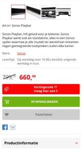 Sonos Playbar in prijs verlaagd