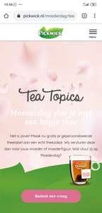 Maak voor moederdag gratis jouw persoonlijke Tea Topic aan @Pickwick