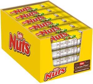 Nestlé Nuts Chocolate Bar, Sweets, Junk Food, Snacks, Hazelnut Filling, 24 Bars